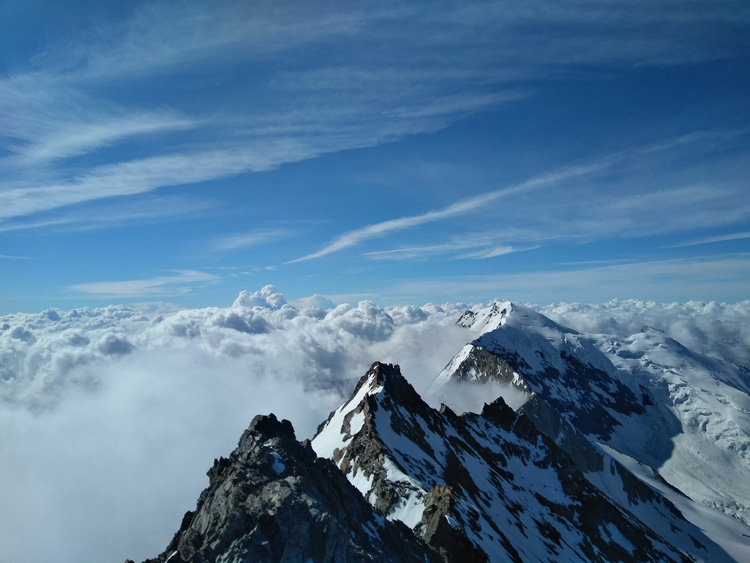 Vetta Lagginhorn nelle Alpi Pennine
