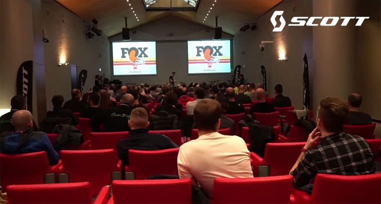 Seminario tecnico Fox per i dealer al Corso Tecnico Scott 2018