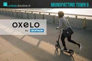 Monopattino Decathlon Oxelo Town 9, biammortizzato e con freno al manubrio