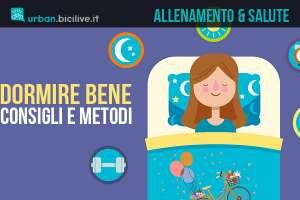 ciclista che dorme bene e senza problemi