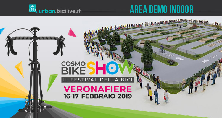 Area Demo Indoor di CosmoBike Show 2019