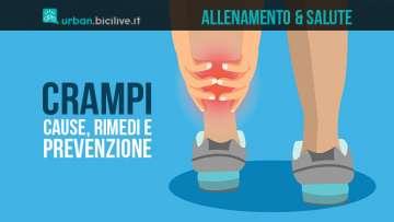 sportivo afflitto da crampi alle gambe