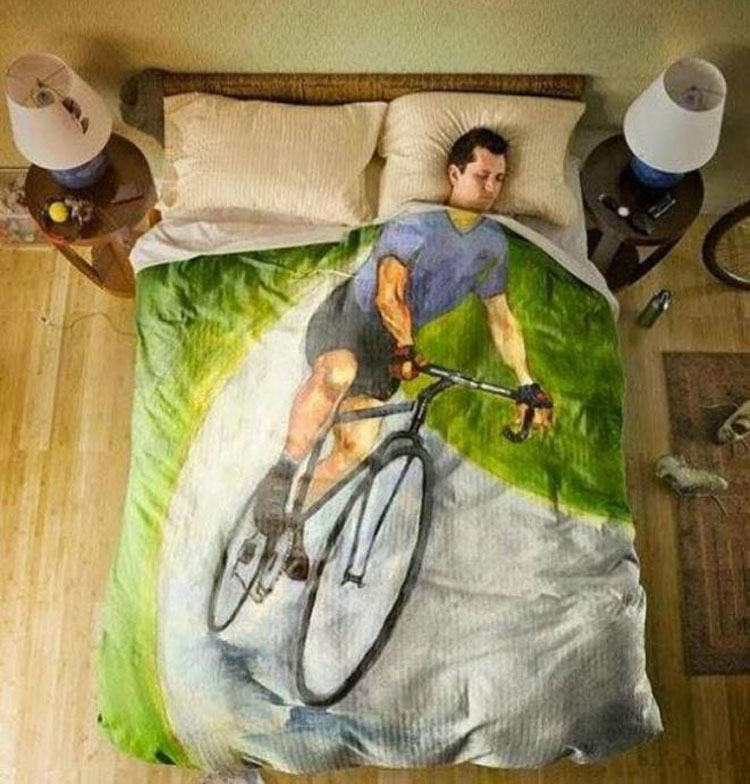 coperta creativa per ciclisti