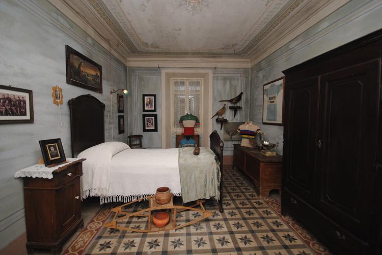 Stanza da letto di Fausto Coppi a Casa Coppi