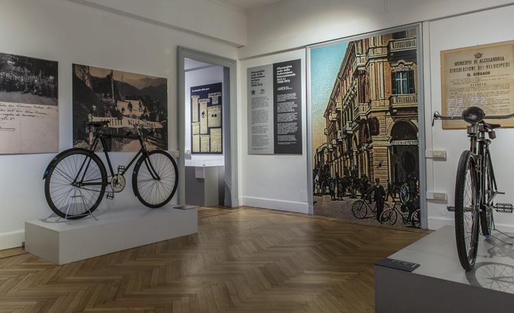 Una delle stanze all'interno del museo Alessandria Città delle Biciclette