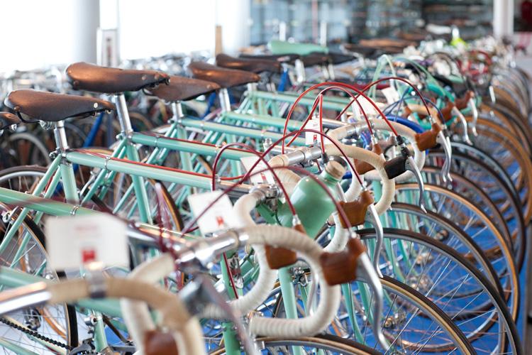 Bici da corsa esposte al Museo Luciano Nicolis