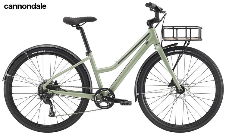 """La bici """"da fitness""""  Cannondale Treadwell EQ Remixte, con telaio a scavallo basso da donna."""