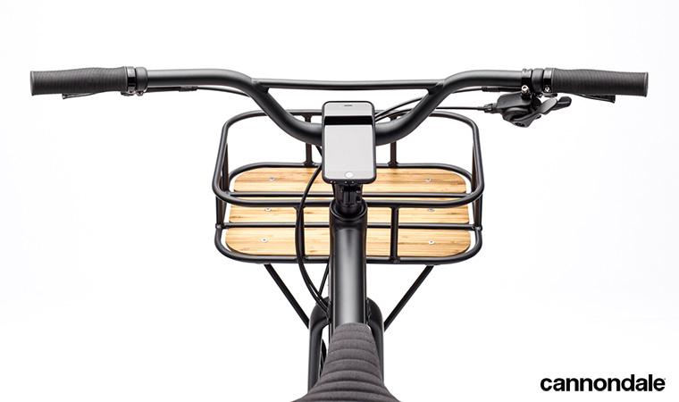 La parte anteriore di una bicicletta Cannondale Treadwell EQ