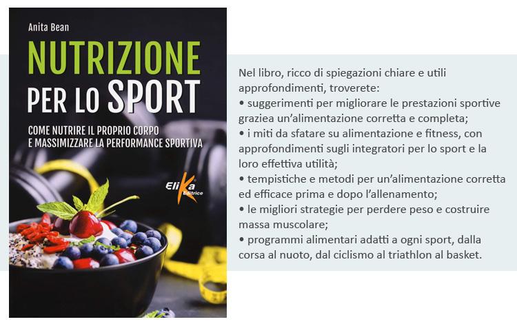 La copertina del libro Nutrizione per lo sport: Come nutrire il proprio corpo e massimizzare la performance sportiva