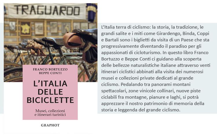 La copertina del libro L'Italia delle biciclette: musei, collezioni e itinerari turistici