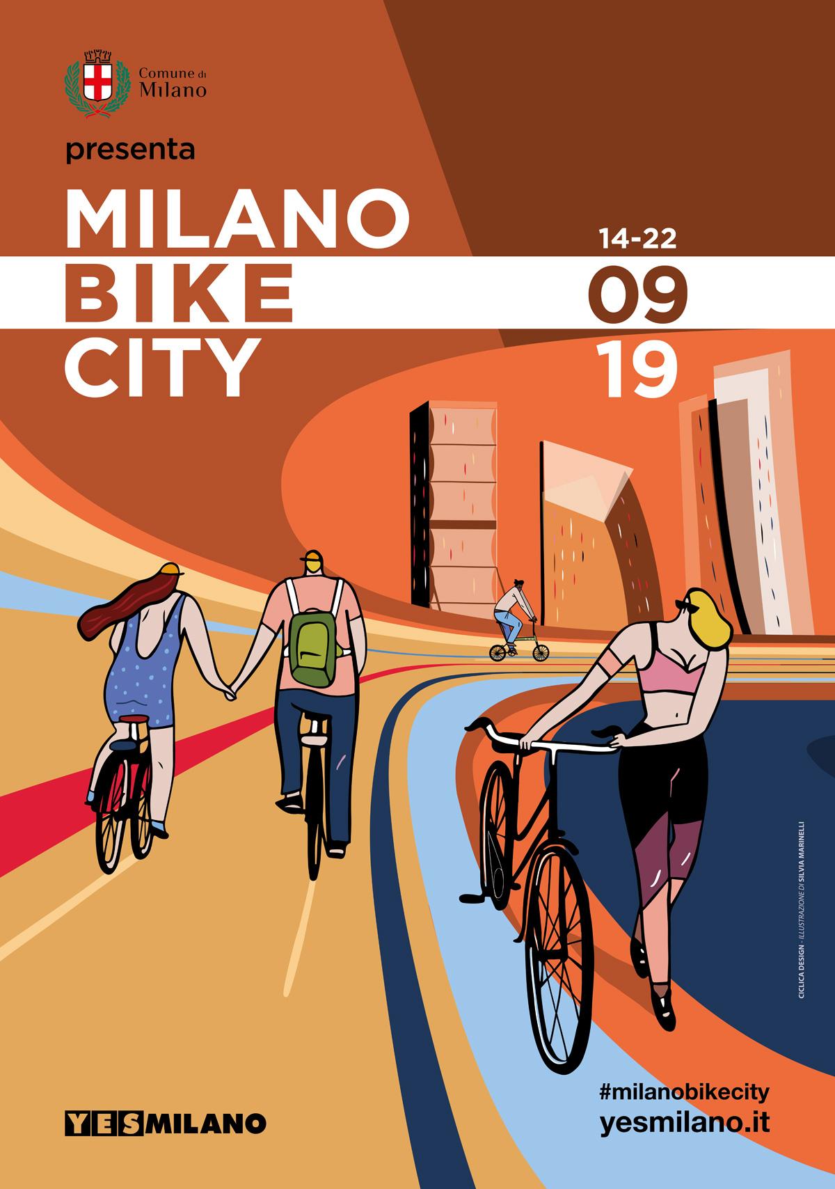 Locandina ufficiale alternativa per Milano Bike City 2019