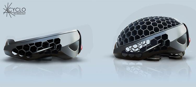 casco cyclo pieghevole
