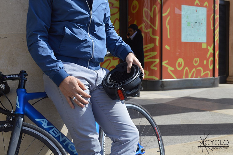 casco cyclo pieghevole in plastica