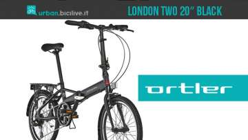 "Ortler London Two 20"" Black 2019: bici pieghevole in alluminio"