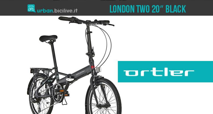 """Ortler London Two 20"""" Black 2019: bici pieghevole in alluminio"""