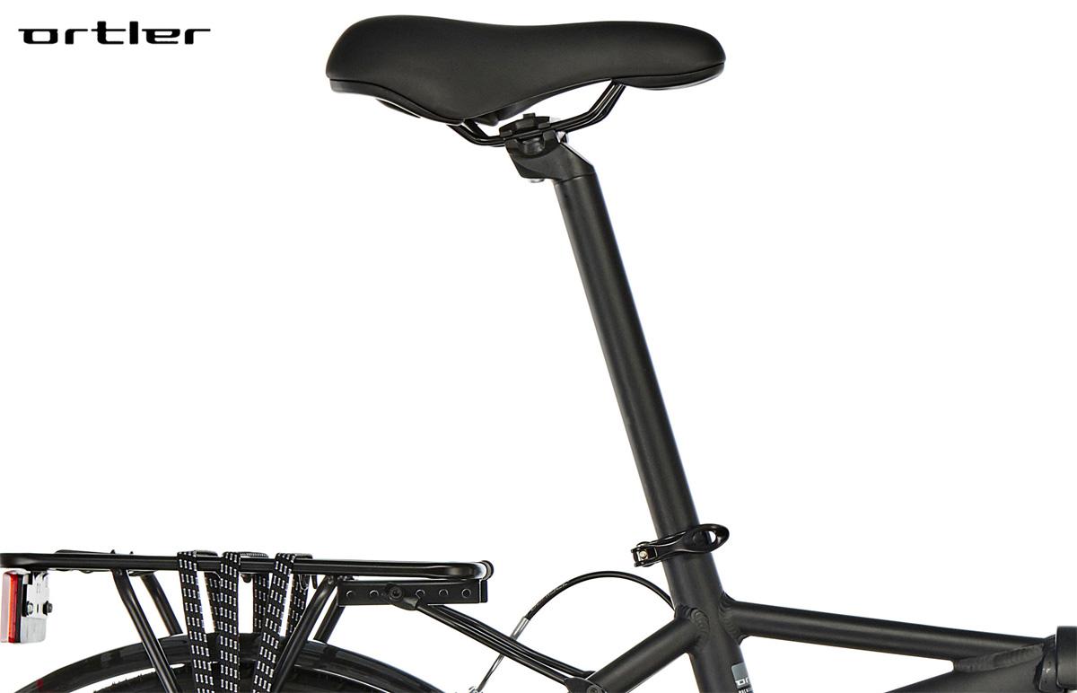 Il reggisella e la sella della bici pieghevole Ortler London Two 20″ Black