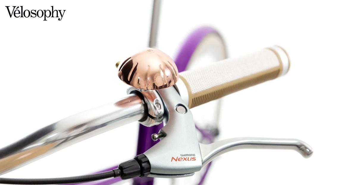 Il campanello equipaggiato sulla Vélosophy Re:Cycle