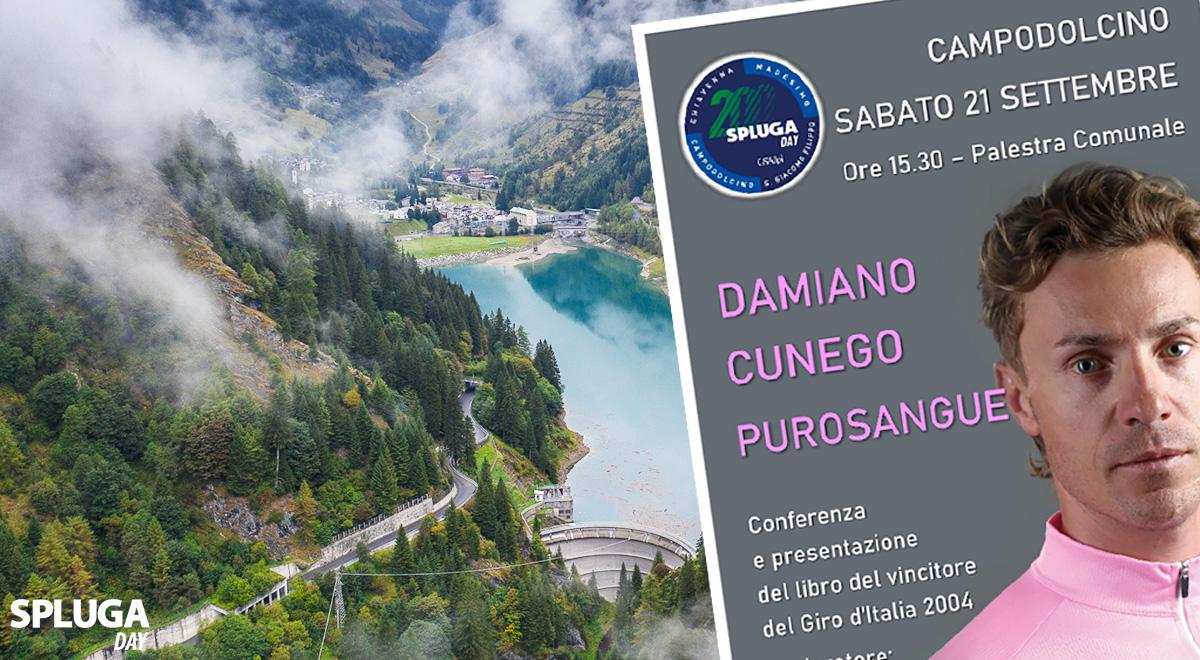 La presentazione del libro di Damiano Cunego a Campodolcino allo Spluga Day