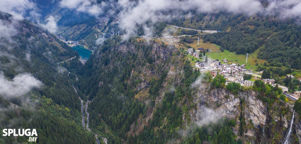 Panorama passo dello Spluga in Valchiavenna