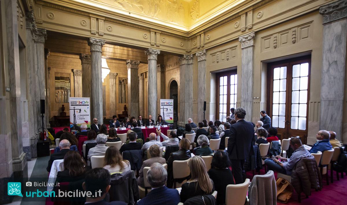 La presentazione di Cosmobike Show 2020 nella sala Reale di Milano