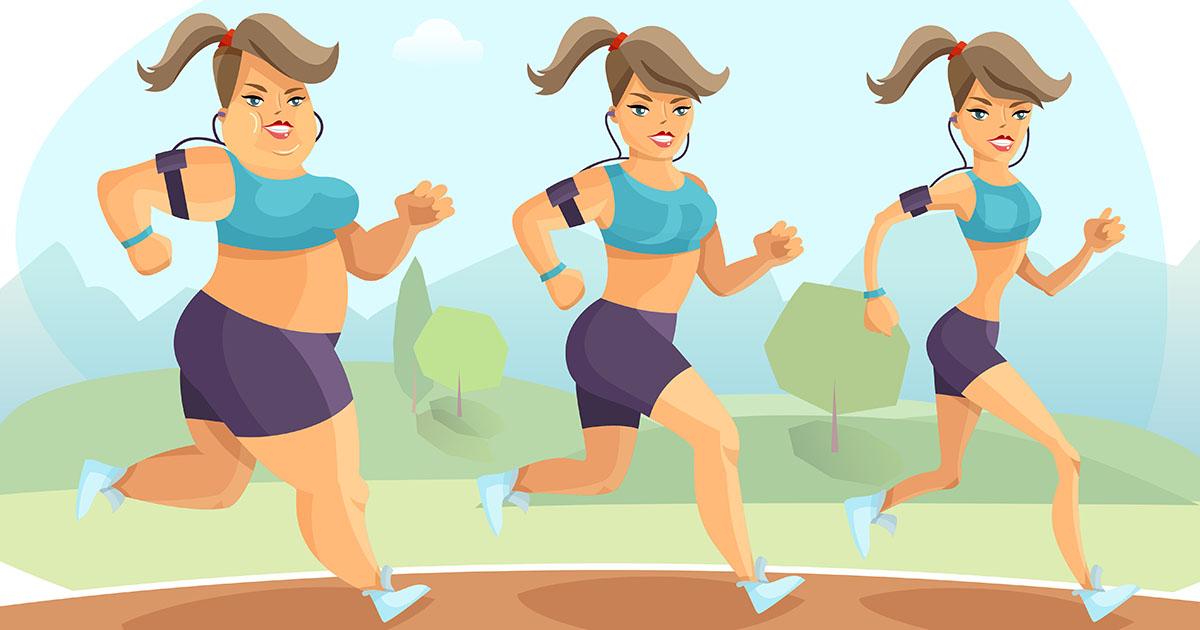 La ragazza che con attività fisica costante perde peso