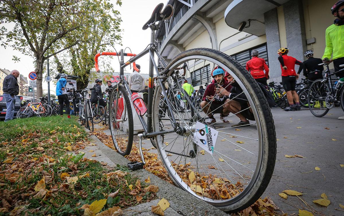 Le bici pronte prima della partenza della gara Vigorelli-Ghisallo 2019