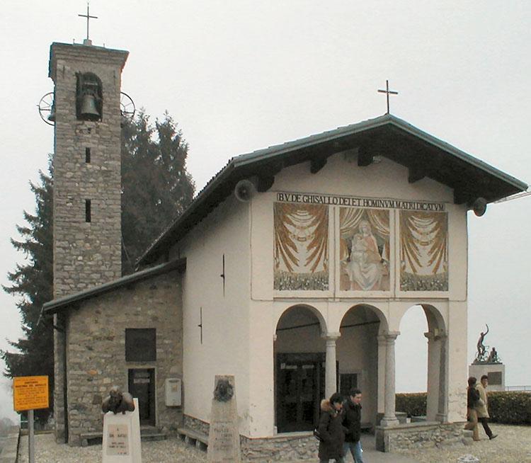 La vista del Santuario della Madonna del Ghisallo 2019