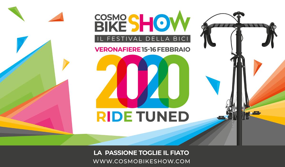 Un flyer pubblicitario della fiera CosmoBike Show 2020