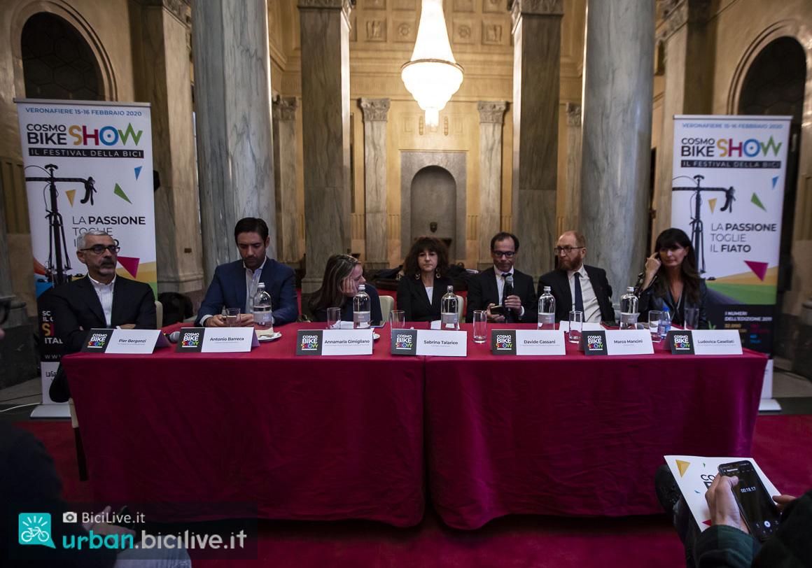 Le personalità alla presentazione di CosmoBike Show 2020 a Milano