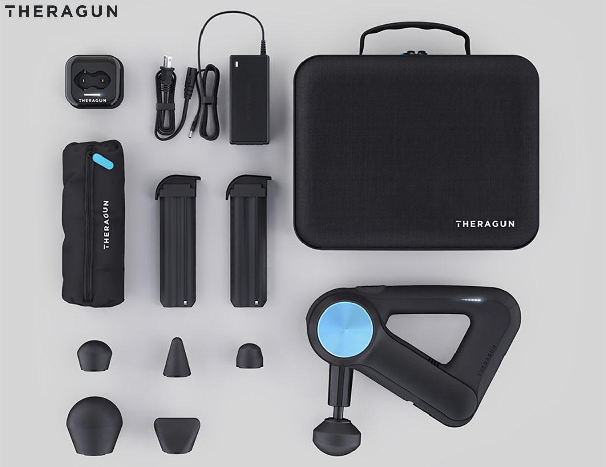 La foto del kit della Theragun G3 2020