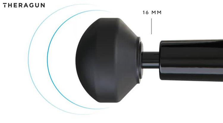 Il Theragun G3 2020 con un oscillazione di 16 millimetri