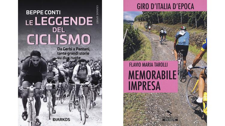Le copertine di due libri sul ciclismo storico