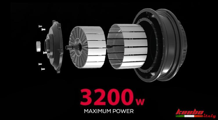 Il potente doppio motore da 3200 W del monopattino elettrico Kaabo Mantis