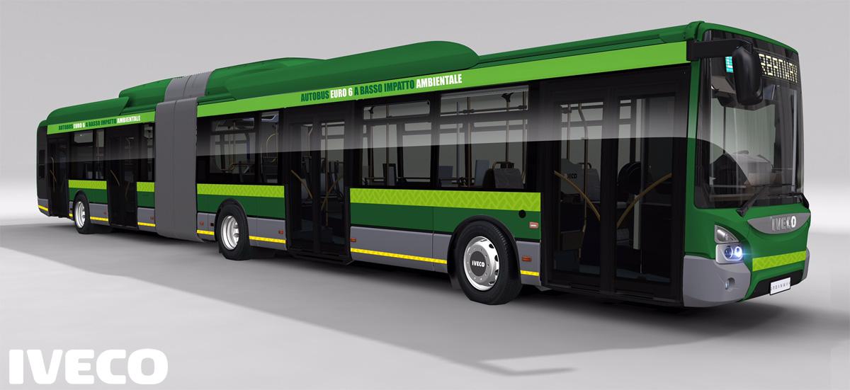 Un Autobus ibrido Iveco Urbanway