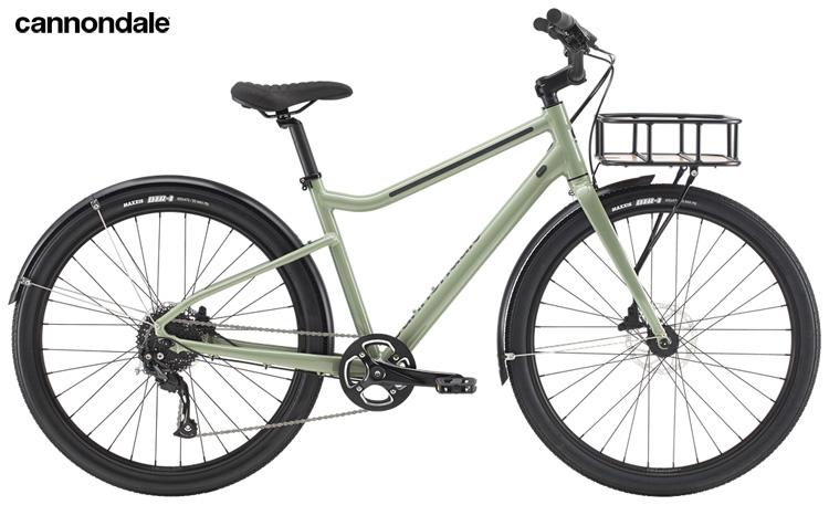 Una bicicletta da passeggio Cannondale Treadwell con cestello
