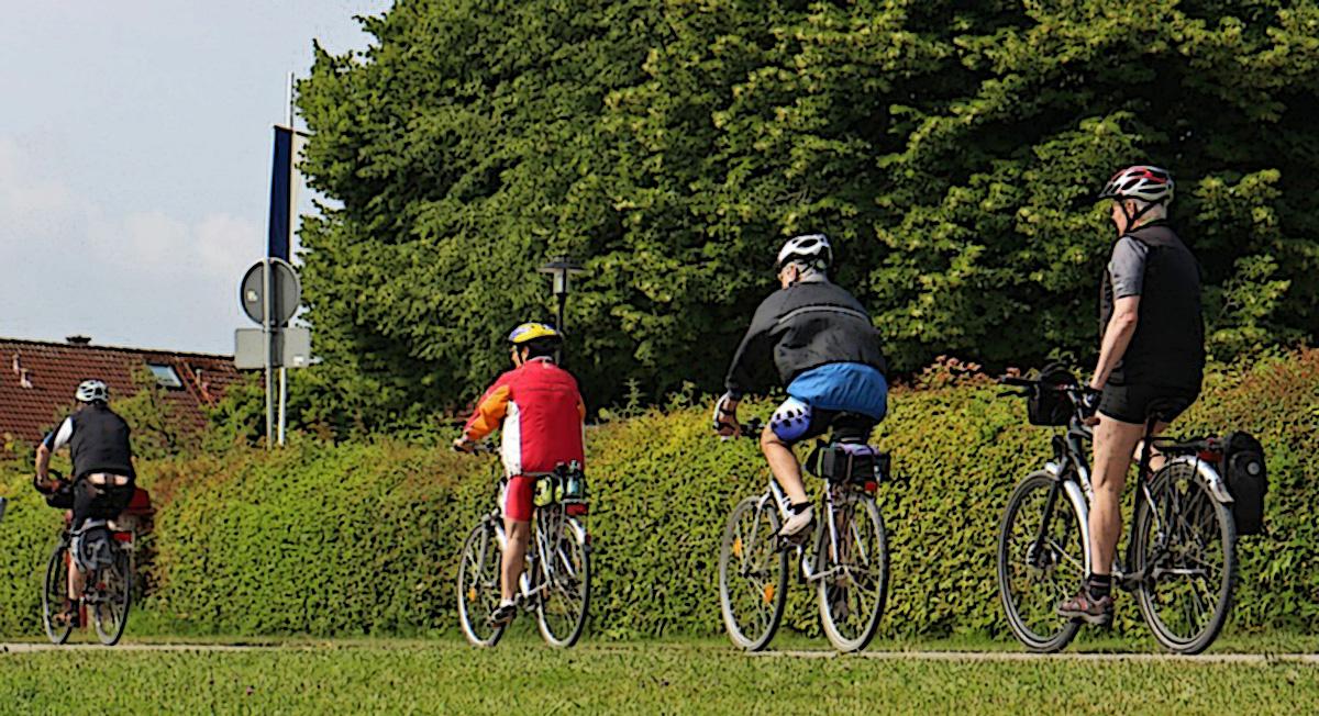 Ciclisti della domenica al parco