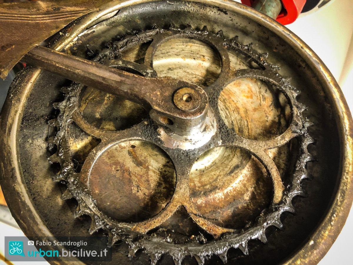 foto della corona della bici
