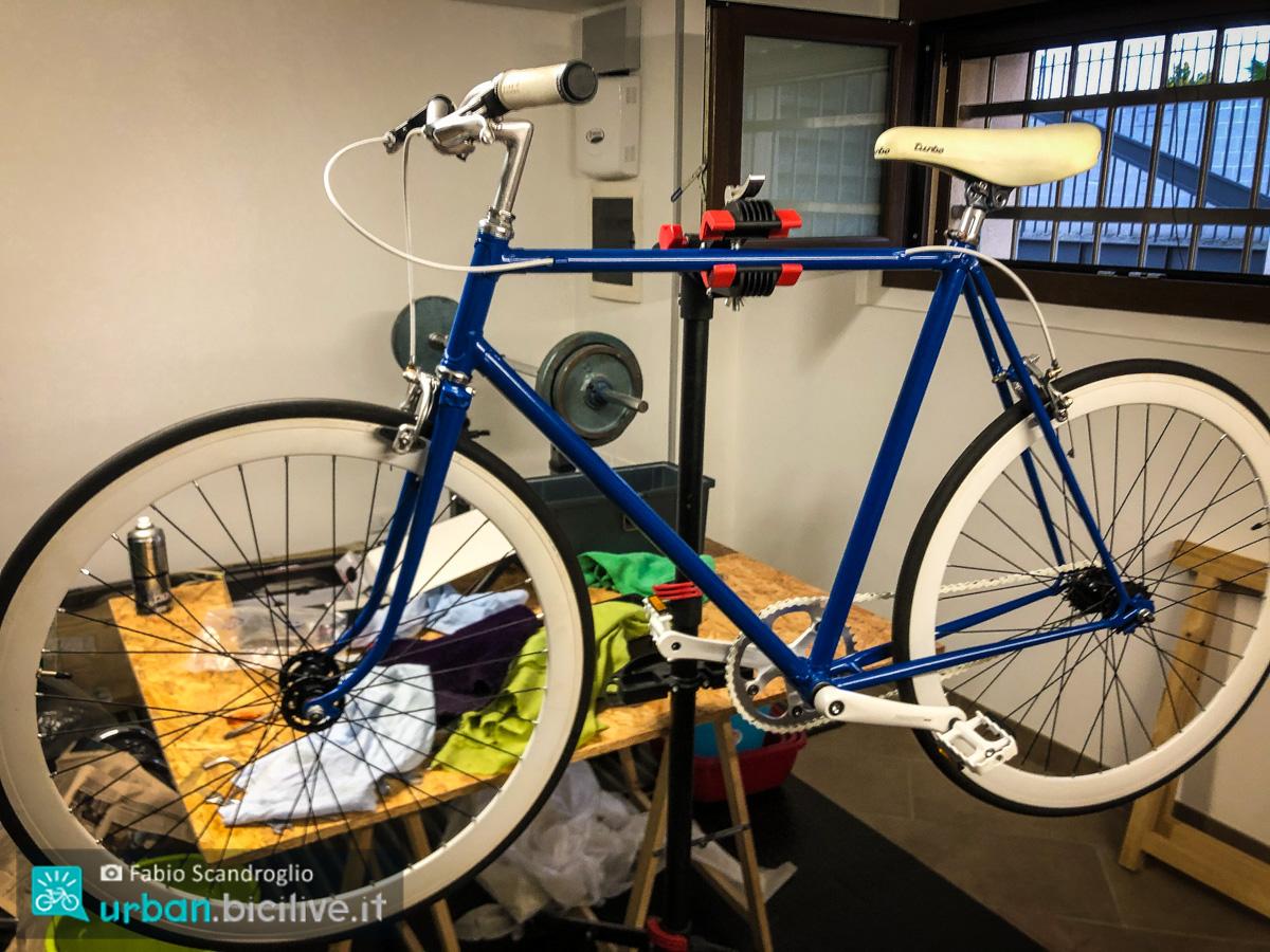foto di una bici rimessa a nuovo