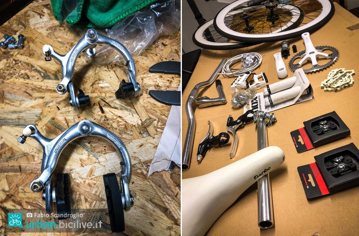 foto dei componenti della bici