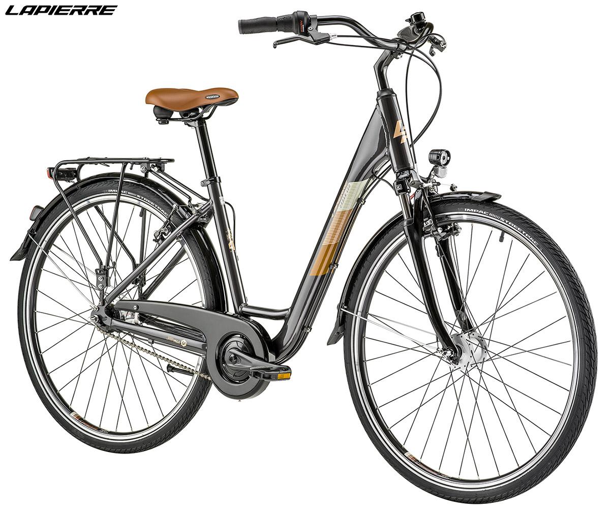 Una bici Lapierre Urban 400 dettagli laterali 2020
