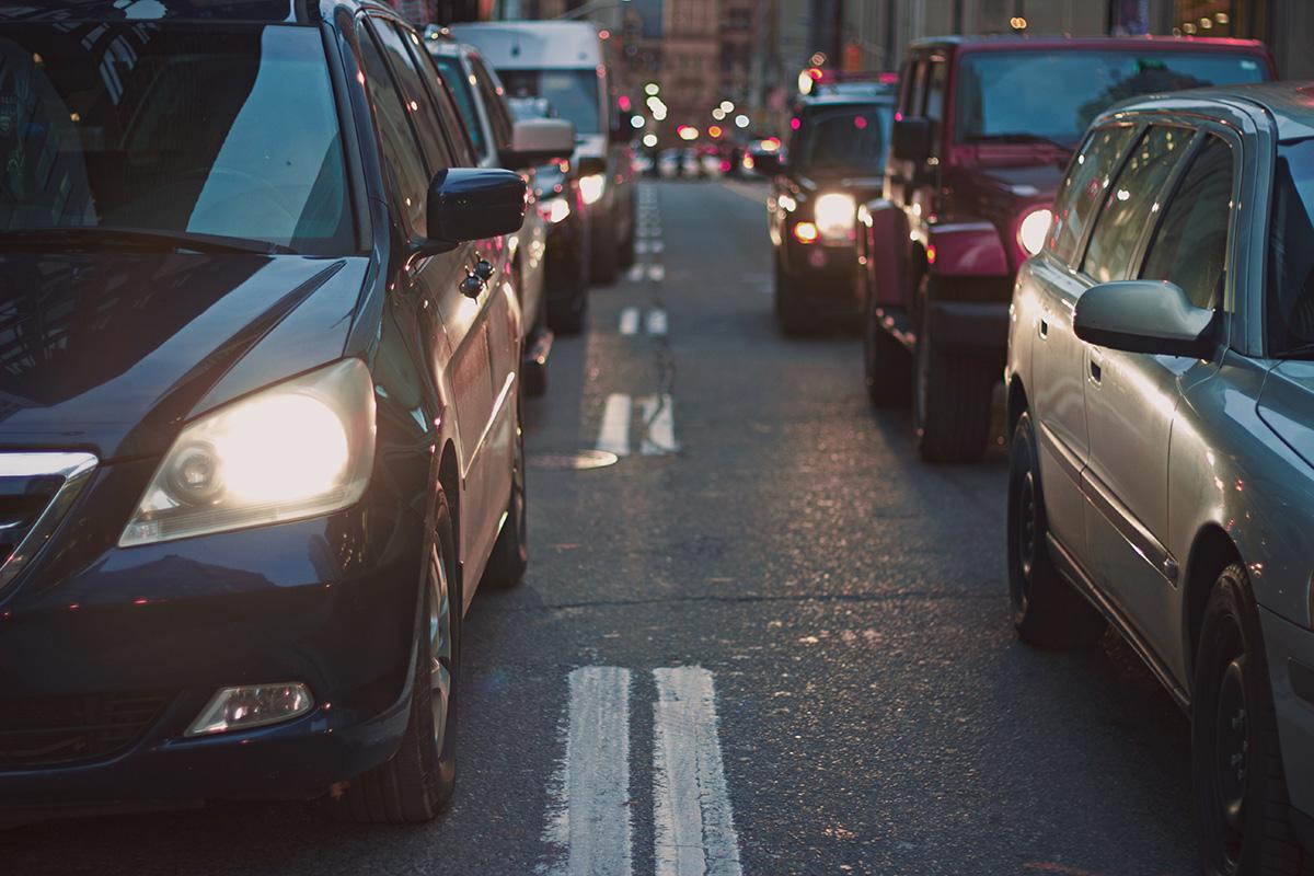 Il traffico di auto in città