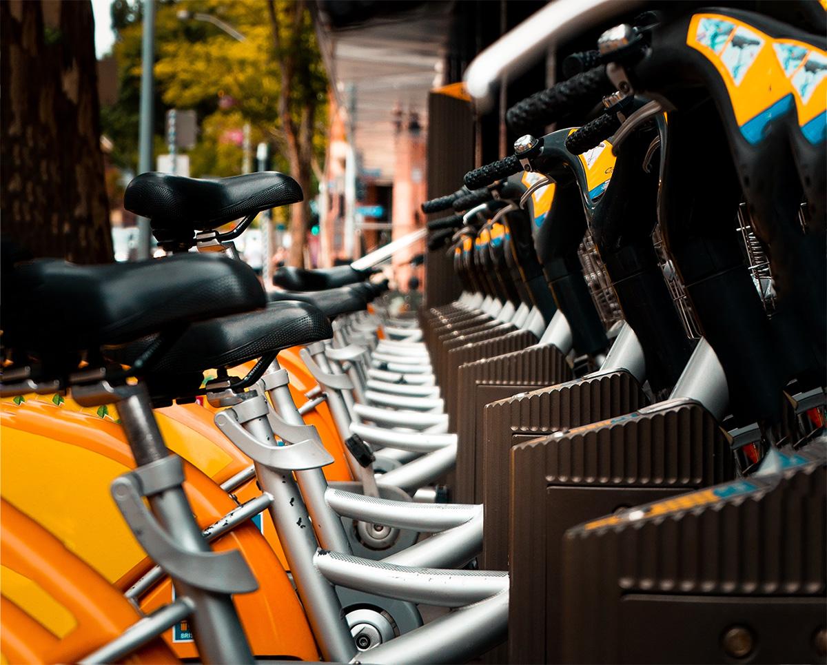 Le biciclette parcheggiate