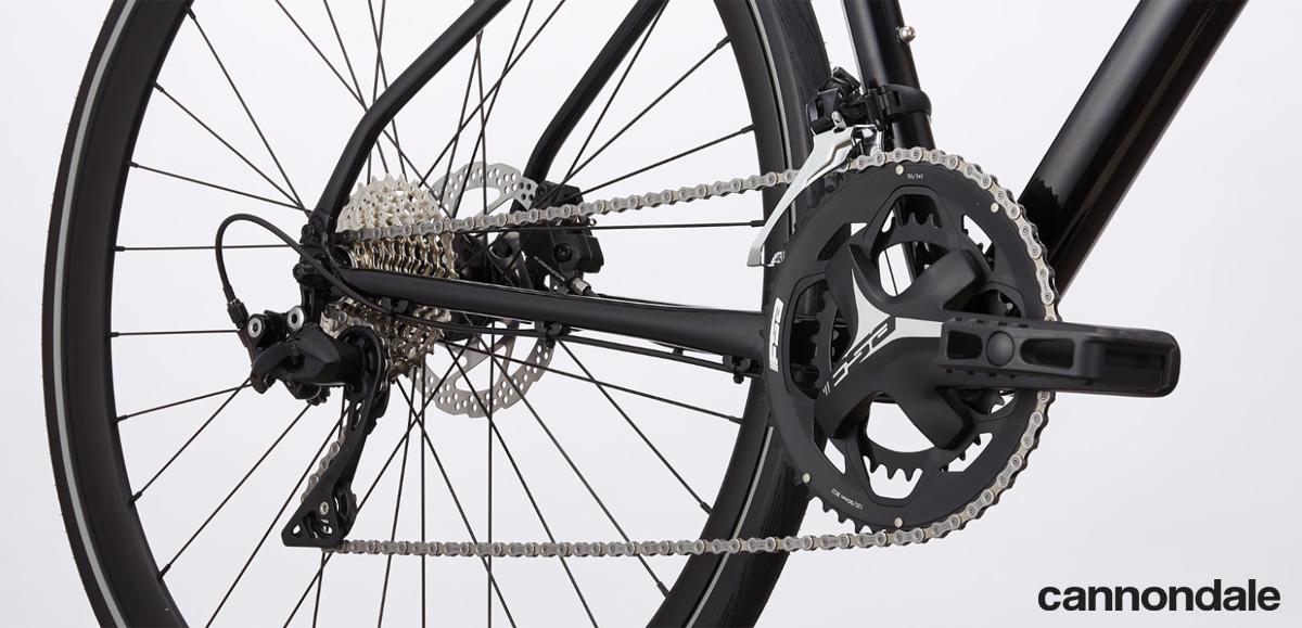 La trasmissione della bici Cannondale Quick 1