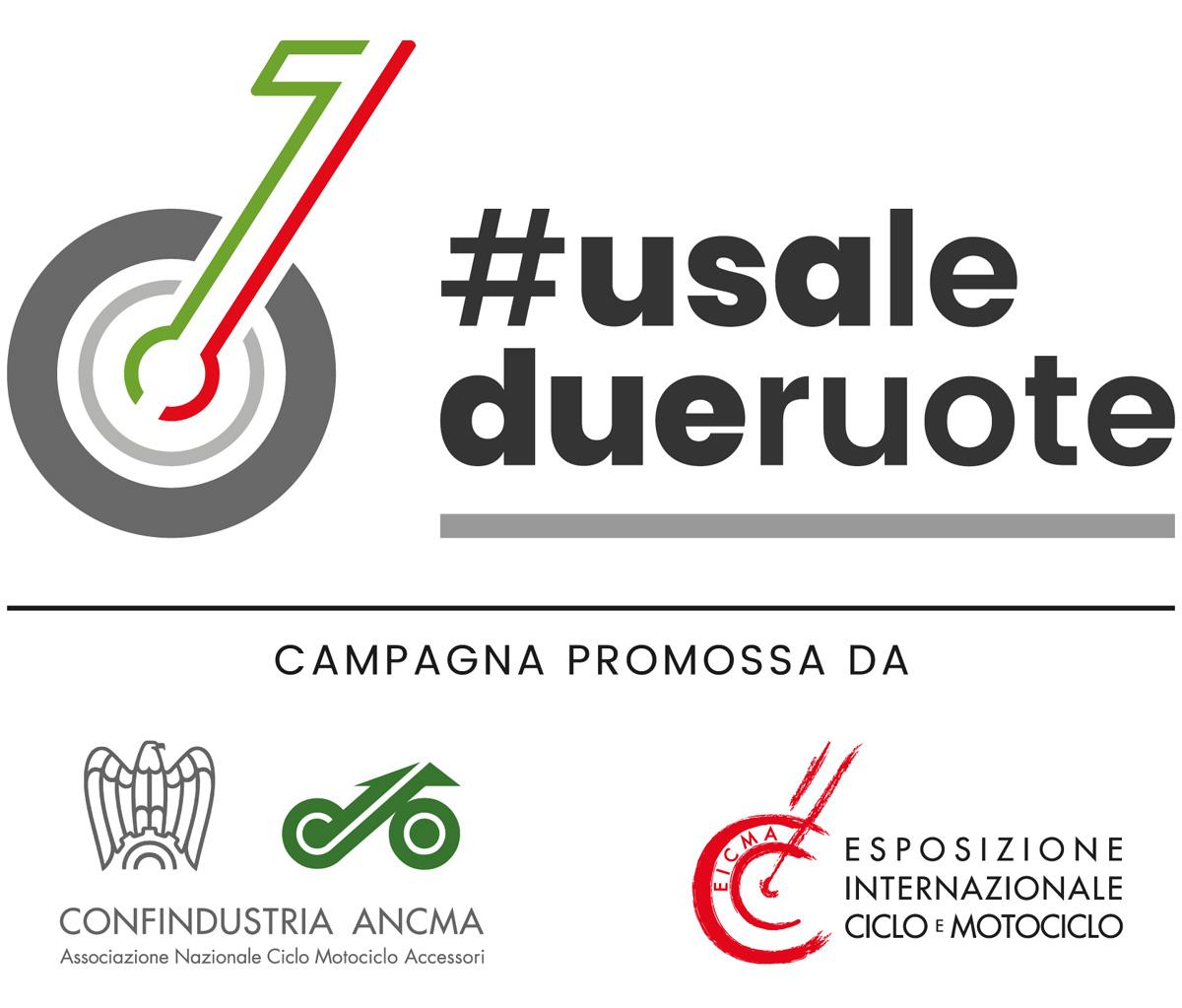 Il logo della campagna #usaledueruote di ANCMA ed EICMA