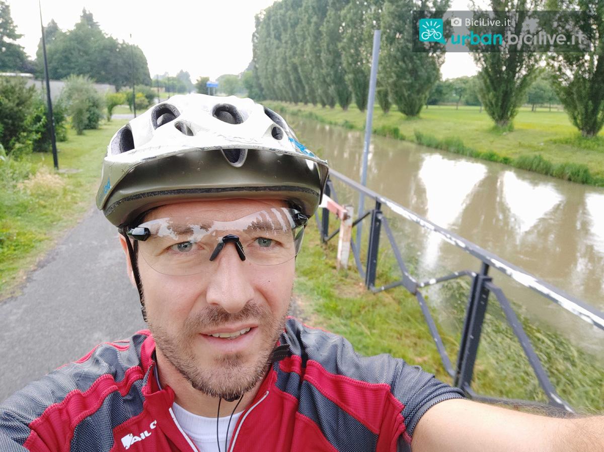 Un selfie del direttore di BiciLive.it Matteo Cappè durante un'uscita in bici