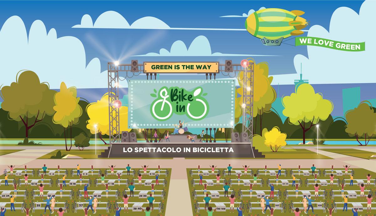Una illustrazione del bike-in