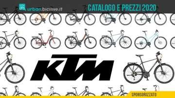 Le biciclette urban e trekking KTM: il catalogo e il listino prezzi 2020