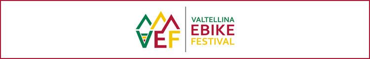 Il logo dell'evento Valtellina E-bike Festival