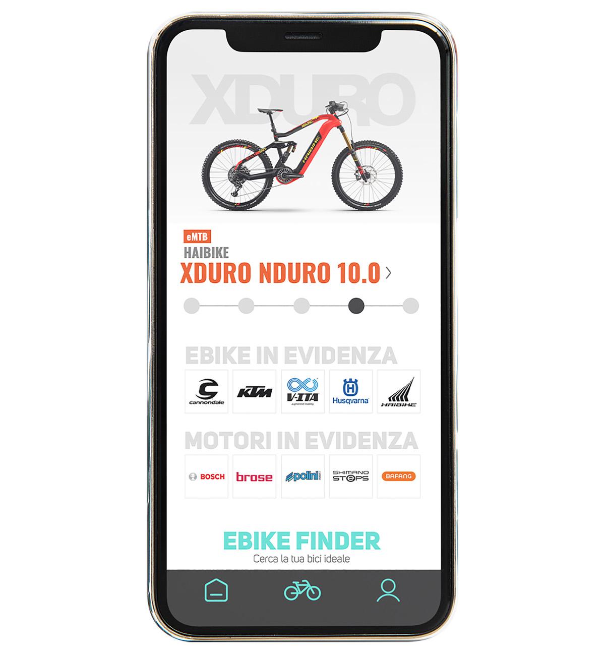 La home della nuova app di BiciLive per trovare la giusta ebike