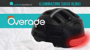 Segnalatore luminoso per casco bici e monopattino Overade Blinxi